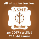 All TDC of AZ instructors are GDTP certified to ASME Y15.4M Senior level